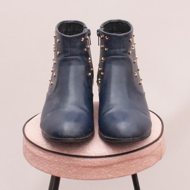 Pavement Navy & Studded Boots - EU 38