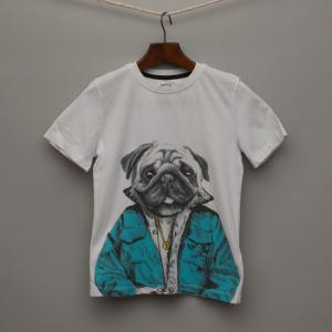 White Pug T-Shirt