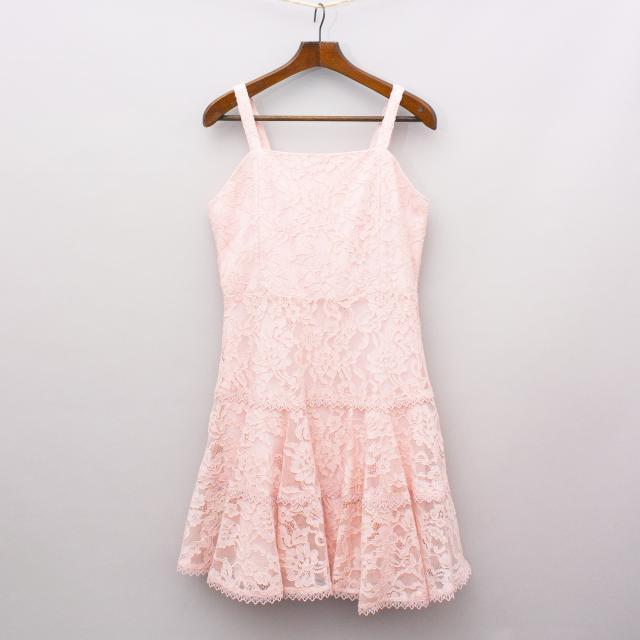 Bardot Pastel Lace Dress