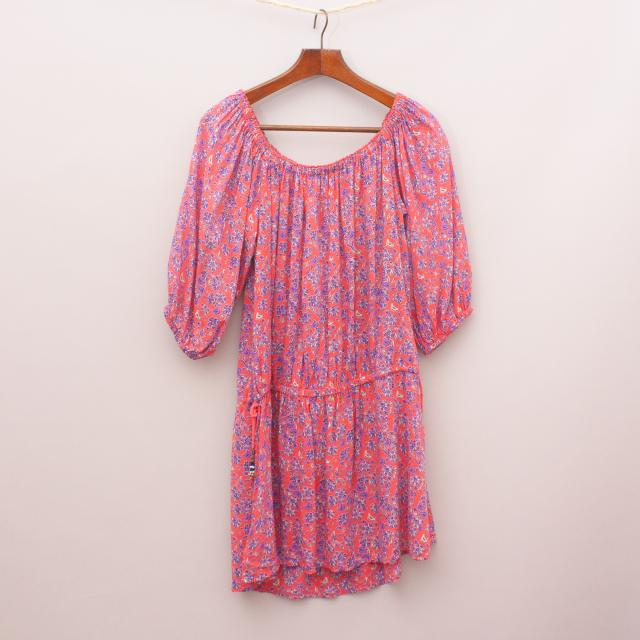 Tigerlily Patterned Peasant Dress