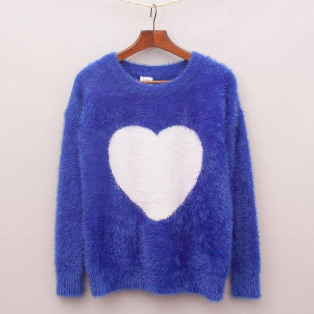 Seed Fluffy Heart Jumper