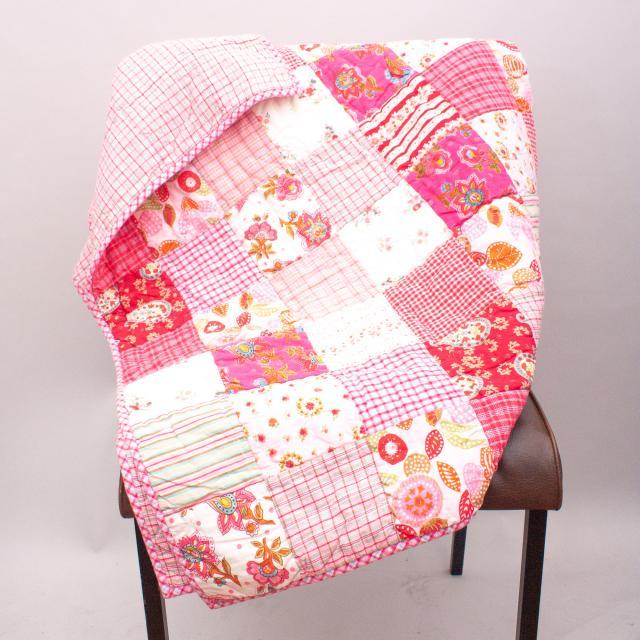 Room Seven Pink Patchwork Quilt - Size 140cm x 100cm