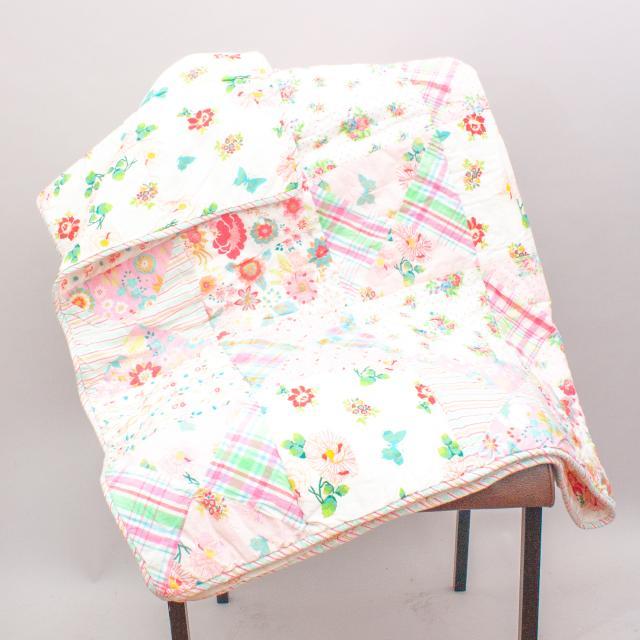 Room Seven Pastel Patchwork Quilt - Size 130cm x 96cm