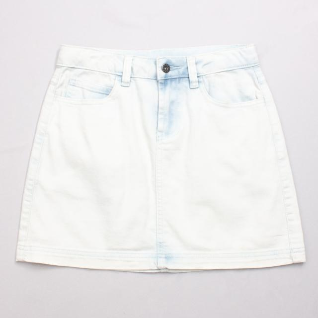 Seed Light Acid Wash Denim Skirt