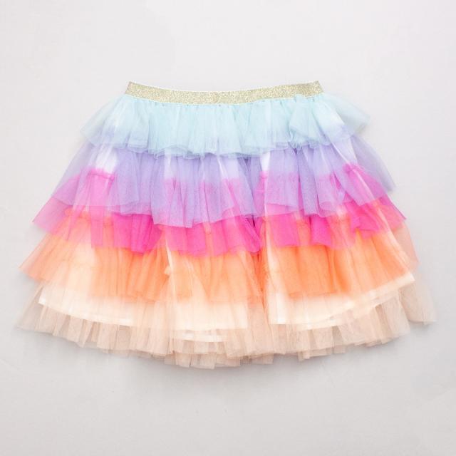Cotton On Coloured Rainbow Tutu Skirt - Size 5-8