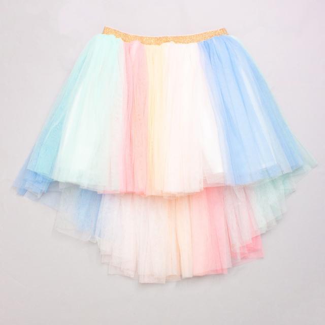 Cotton On Pastel Rainbow Tutu Skirt - Size 5-8