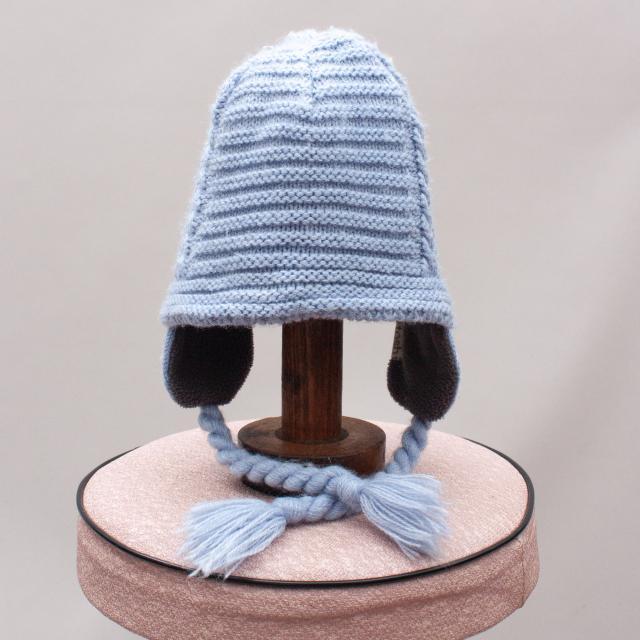 Purebaby Gingham Organic Cotton Hat - S