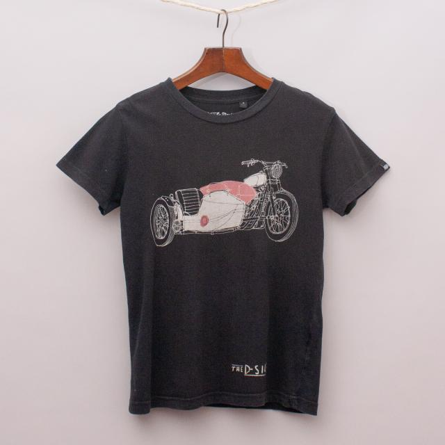 Deux et Machina Motorcycle T-Shirt