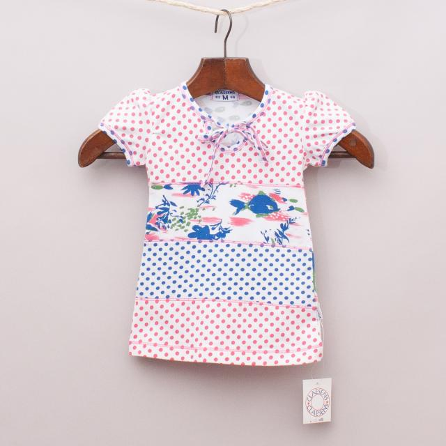 """Claesens Patterned Top """"Brand New"""""""