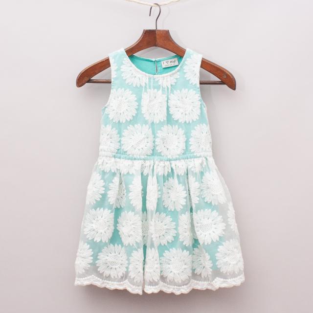 Next Mint Flower Dress