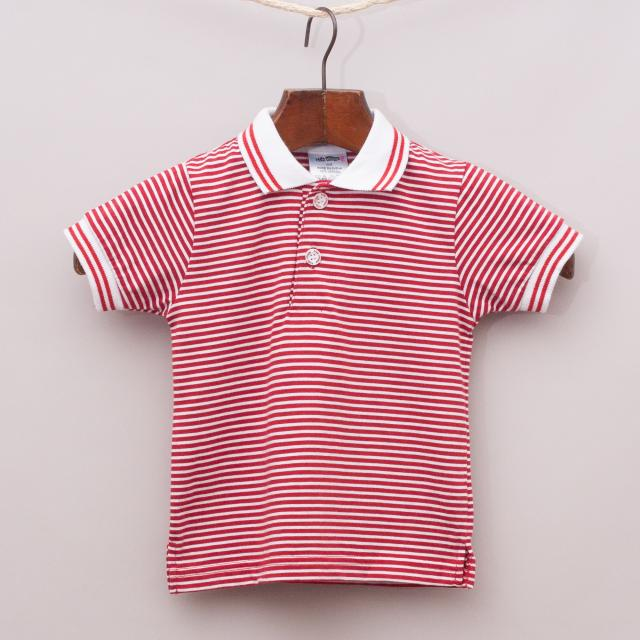 "Kids Village Striped Polo Shirt ""Brand New"""
