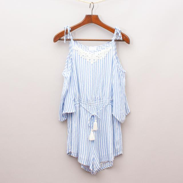 Witchery Striped Playsuit