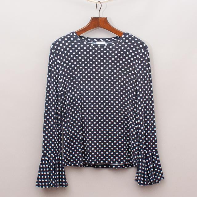 Witchery Polka Dot Long Sleeve
