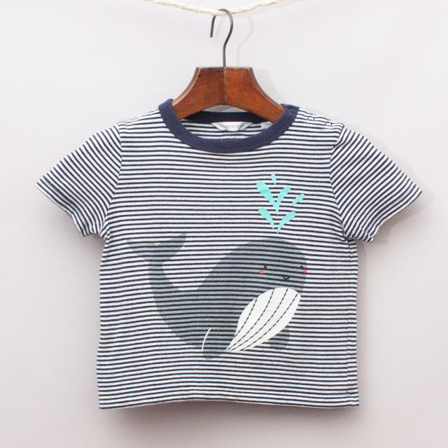 Country Road Striped Whale T-Shirt