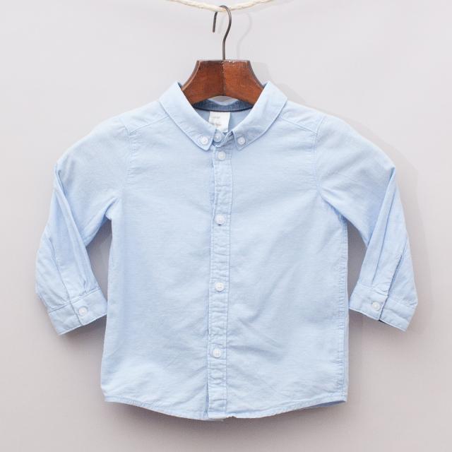 H&M Pastel Blue Shirt