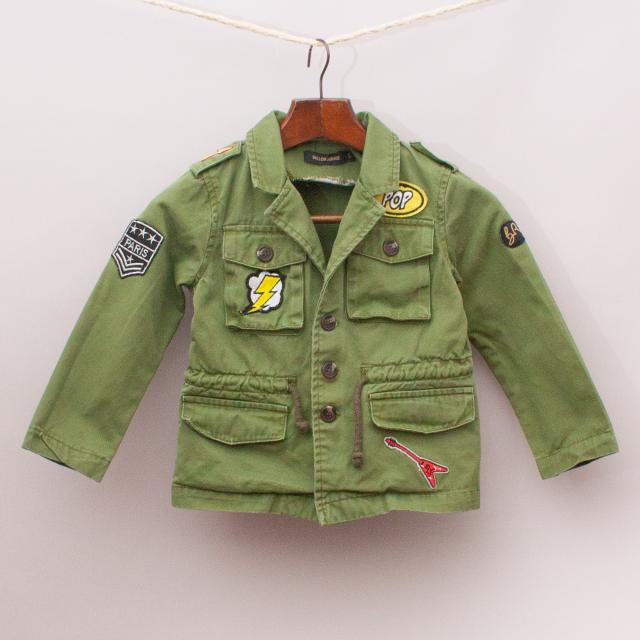 Ballon Rouge Khaki Military Jacket