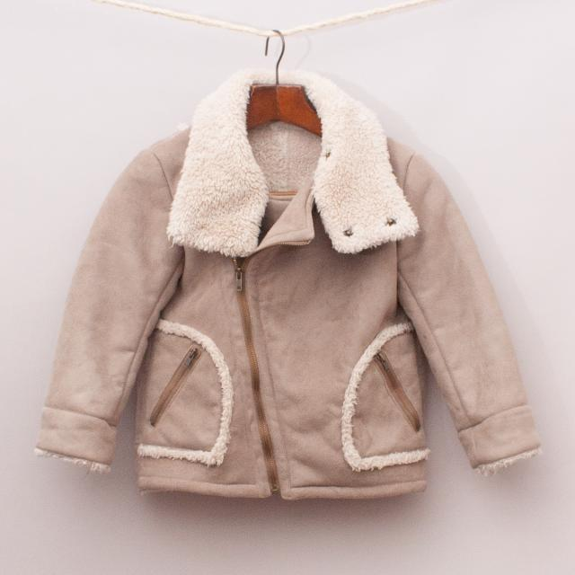 Comme Ca Fille Suede-Like Jacket