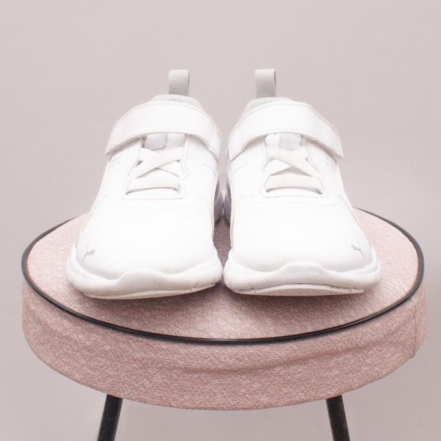 Puma Soft Foam White Sneakers - EU 28 (Age 4 approx.)