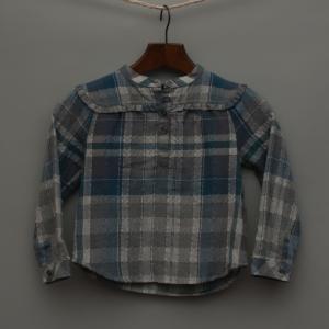 Blue and Grey Check Shirt