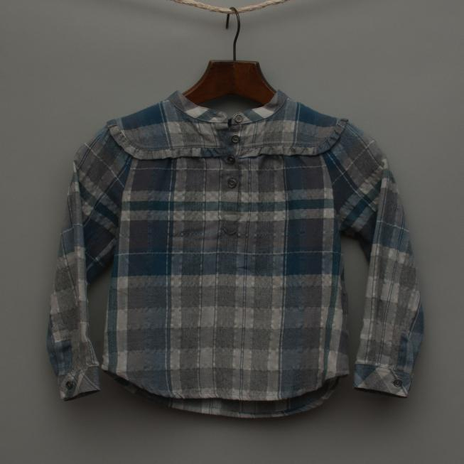 Blue and Grey Check Shirt