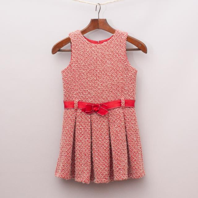 Origami Red Knit Dress