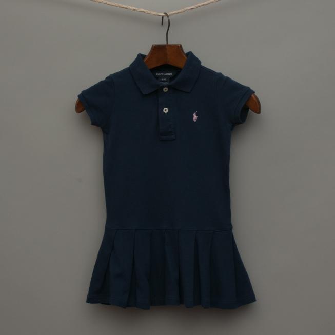 Navy Blue Polo Dress