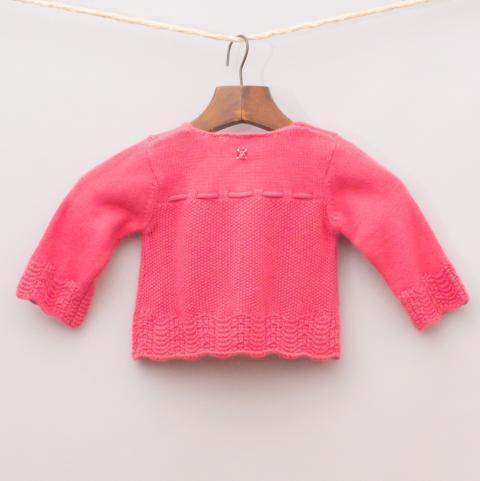 Jacadi Raspberry Knit Cardigan & Beanie