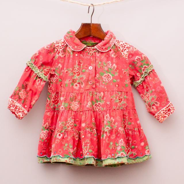 Oilily Floral Corduroy Dress