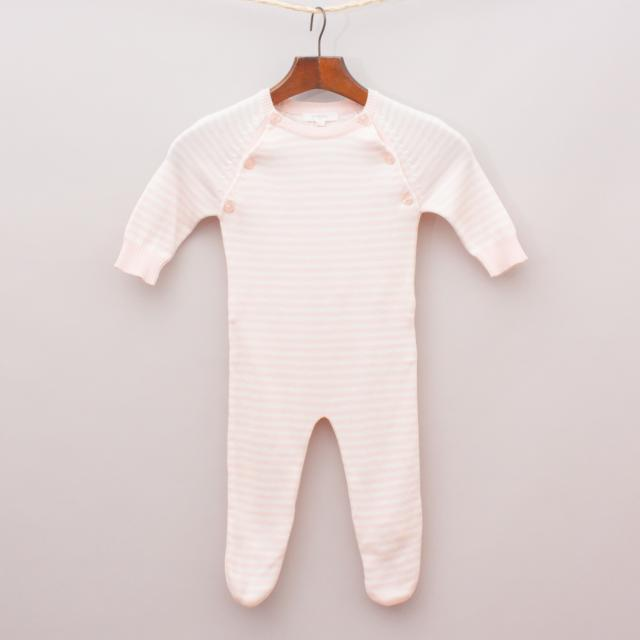 "Puerbaby Striped Knit Romper ""Brand New"""