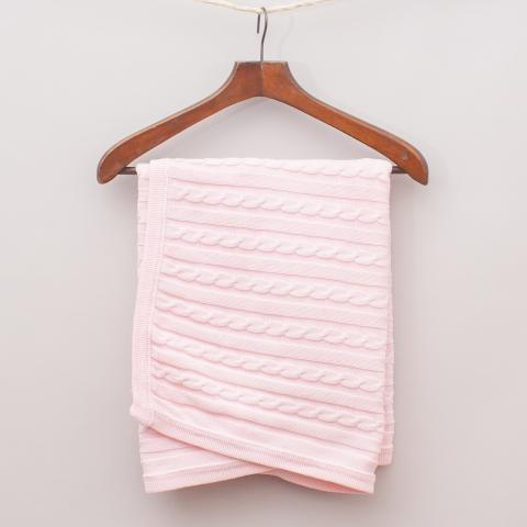 Branberry Cable Knit Blanket - 92cm x 68cm