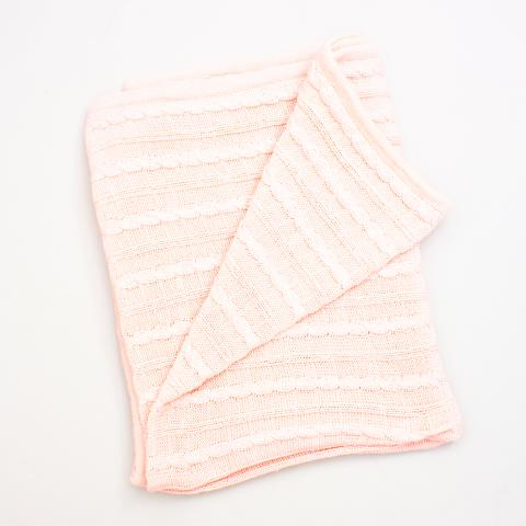 Branberry Cable Knit Blanket - 142cm x 84cm