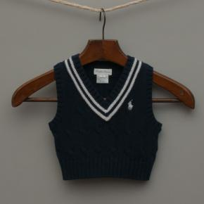 Navy Blue Knitted Vest