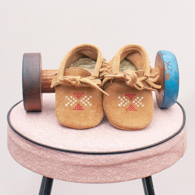 Purebaby Suede Booties - 3-6Mths
