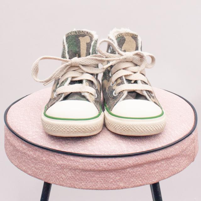 Converse Camo Sneakers - EU 20 (0-12Mths Approx.)
