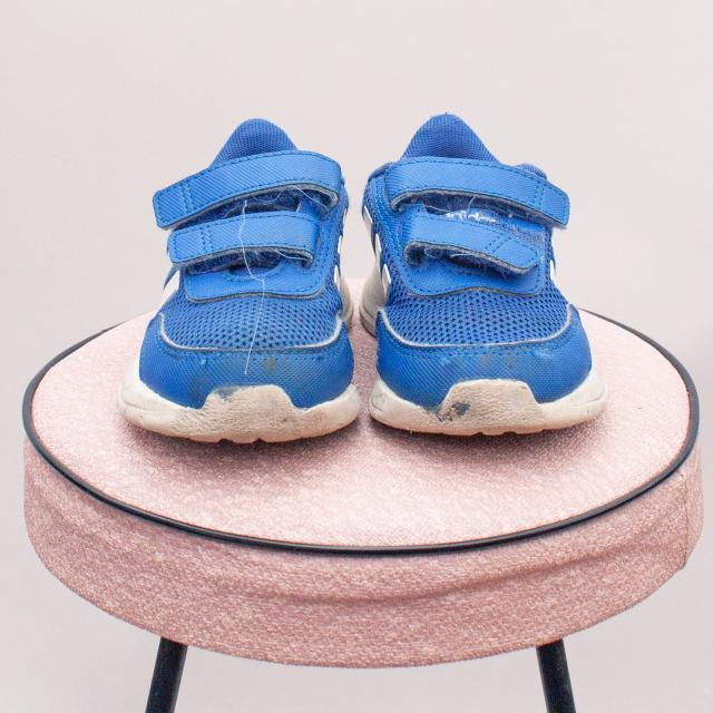 Adidas Blue Sneakers - UK 7 (Age 2 approx.)
