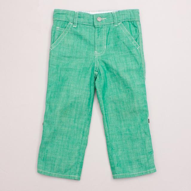 Gap Green Cotton Pants