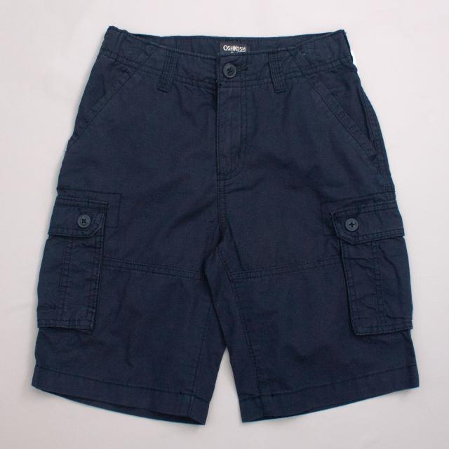 "OshKosh Navy Blue Cargo Shorts ""Brand New"""