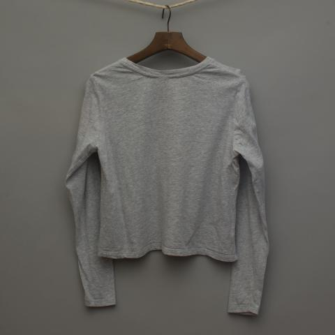 Grey Marle Long Sleeve Top