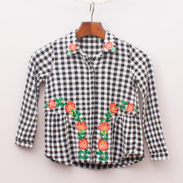 Check & Floral Shirt