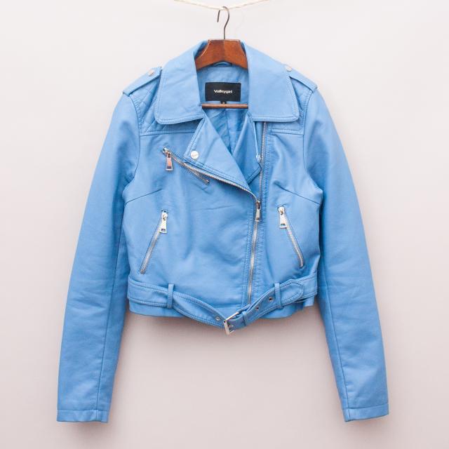 Valleygirl Faux Leather Biker Jacket