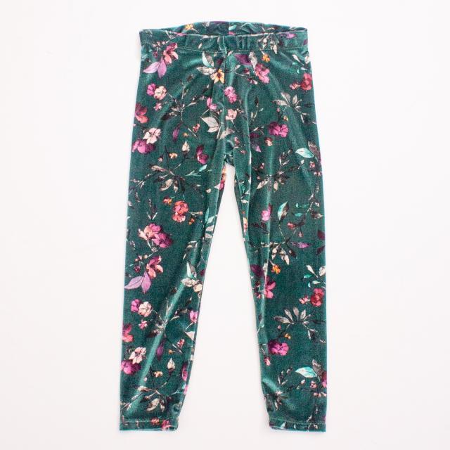 Zara Floral Velvet Leggings