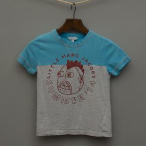 Bright Blue and Grey Marle T-Shirt