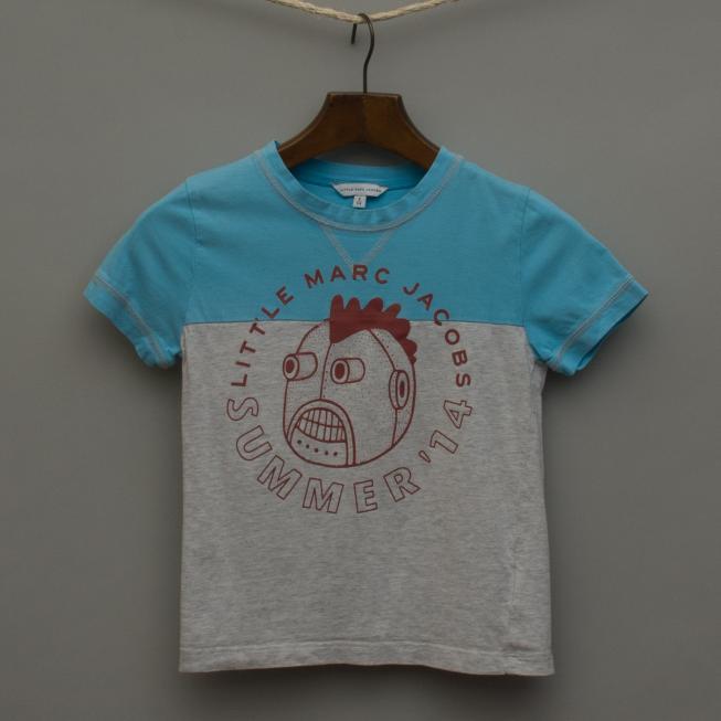Bright Blue and Grey Marle T-Shirt