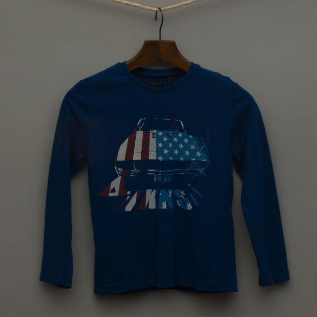 Navy Blue Long Sleeve Top