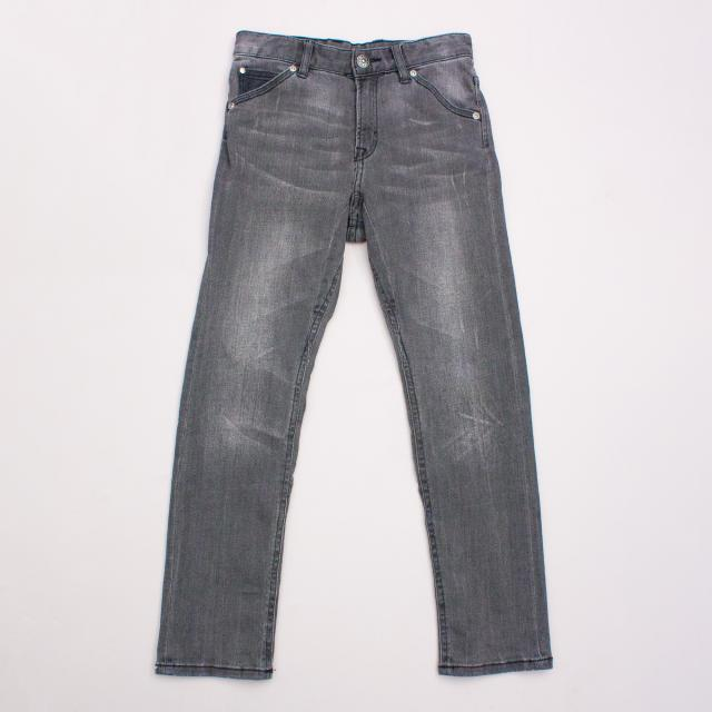 H&M Distressed Charcoal Jeans