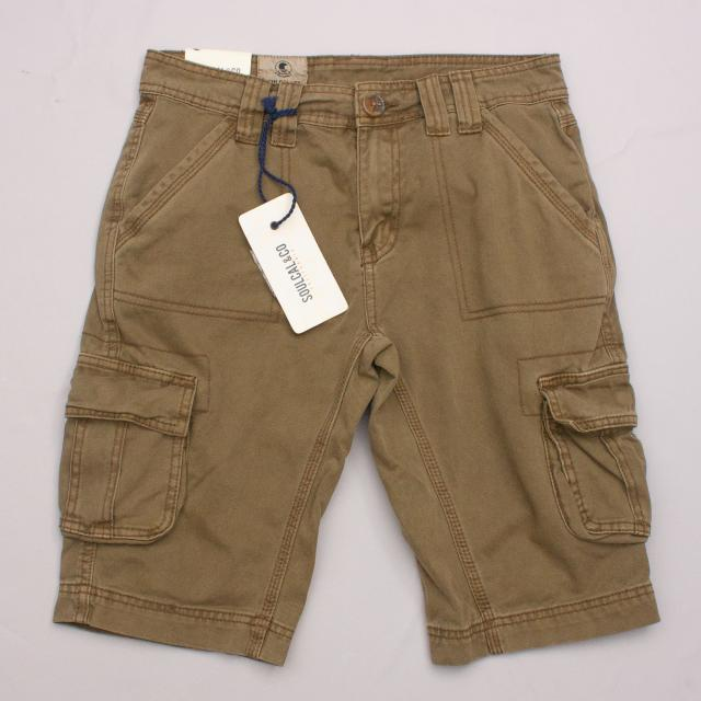 "SoulCal & Co Khaki Cargo Shorts ""Brand New"""
