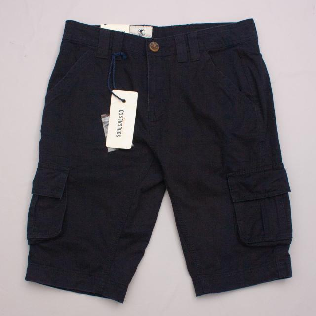 "SoulCal & Co Navy Blue Cargo Shorts ""Brand New"""