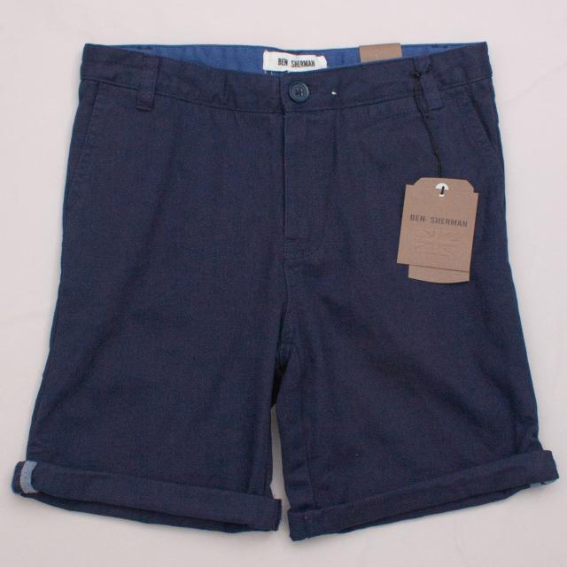 "Ben Sherman Navy Blue Shorts ""Brand New"""