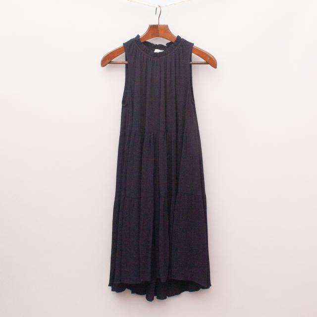 Decjuba Navy Layered Dress