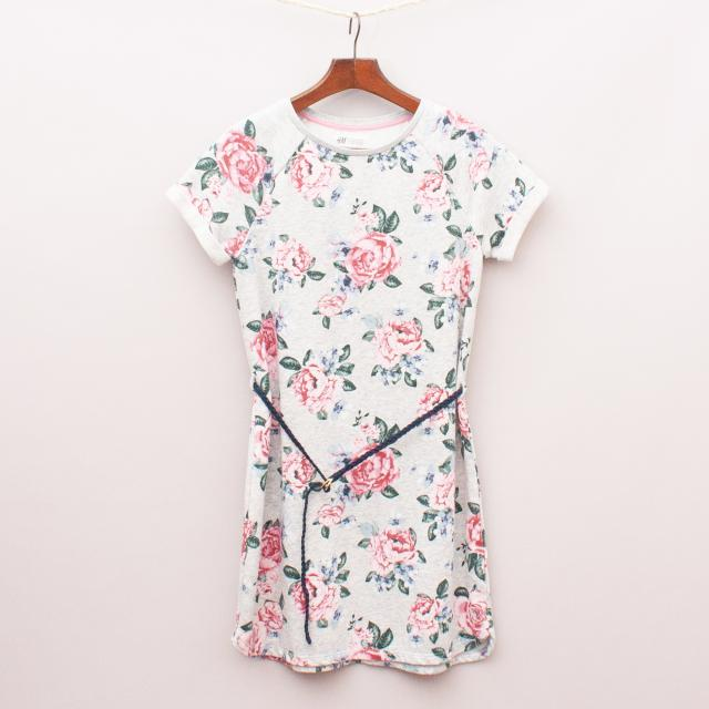 H&M Floral T-Shirt Dress